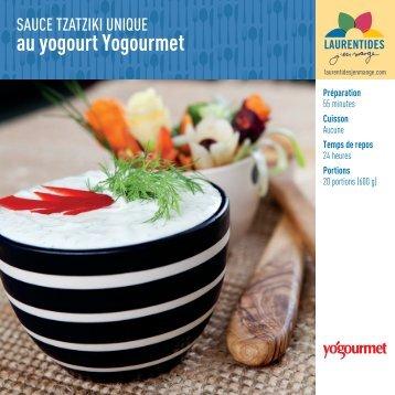 Sauce tzatziki unique au yogourt Yogourmet - Agrolaurentides