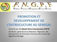 promotion etdeveloppement del'ostreiculture au senegal