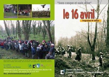 Découvrir le programme des commémorations - Evasion Aisne
