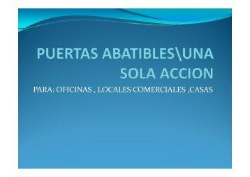 PARA PARA: OFICINAS , LOCALES COMERCIALES ,CASAS CASAS