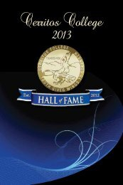 the 2013 Hall of Fame Dinner and Awards Program - Cerritos College