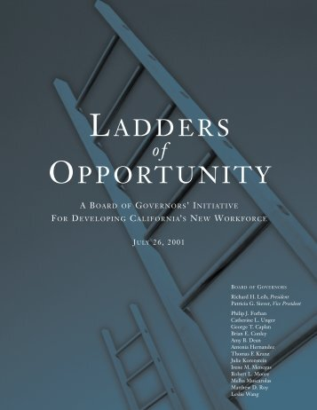 Ladders of Opportunity - California Community Colleges