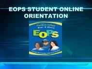 EOPS STUDENT ONLINE ORIENTATION - Cerritos College