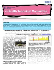 e-Health Technical Committee - IEEE Communications Society