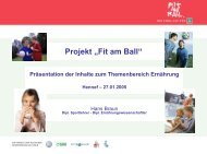 "Projekt ""Fit am Ball"""