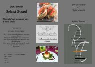 Roland Evrard - Chef Chez Vous - Home