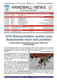 11-03-18 GTV Handball-News Nr 78 - beim Godesberger ...