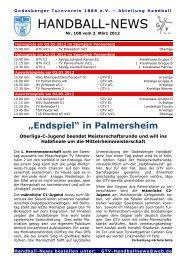 12-03-02 GTV Handball-News Nr 108 - beim Godesberger ...