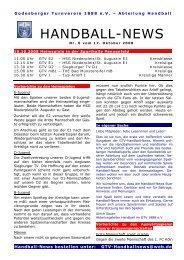 Handball-News – Nr. 0 - beim Godesberger Turnverein 1888 eV