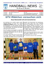11-05-13 GTV Handball-News Nr 84 - beim Godesberger ...