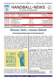 11-01-14 GTV Handball-News Nr 70 - beim Godesberger ...