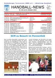 10-10-08 GTV Handball-News Nr 60 - beim Godesberger ...