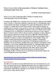 Pierres Levees, Steles Anthropomorphes et Dolmens/ Standing ...
