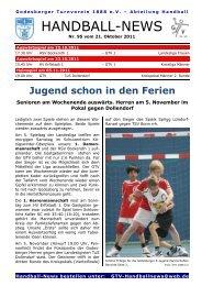 11-10-21 GTV Handball-News Nr 95 - beim Godesberger ...