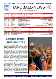 11-01-28 GTV Handball-News Nr 72 - beim Godesberger ...