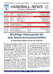 11-12-02 GTV Handball-News Nr 99 - beim Godesberger ...