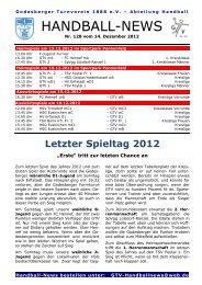 Handball-News – Nr. 128 - beim Godesberger Turnverein 1888 eV