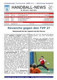 11-04-01 GTV Handball-News Nr 80 - beim Godesberger ...