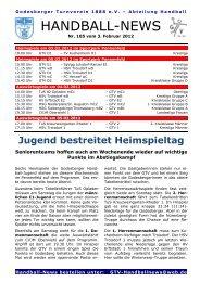 12-02-03 GTV Handball-News Nr 105 - beim Godesberger ...