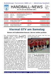 11-11-18 GTV Handball-News Nr 97[1] - beim Godesberger ...