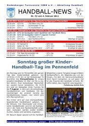 11-02-04 GTV Handball-News Nr 73 - beim Godesberger ...