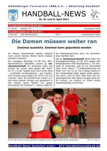 11-04-08 GTV Handball-News Nr 81 - beim Godesberger ...