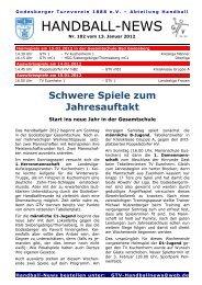 12-01-13 GTV Handball-News Nr 102 - beim Godesberger ...