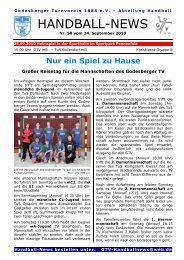 10-09-24 GTV Handball-News Nr 58 - beim Godesberger ...