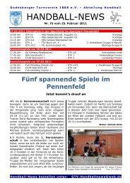 11-02-25 GTV Handball-News Nr 75 - beim Godesberger ...