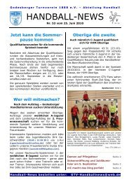 10-06-25 GTV Handball-News Nr 53 - beim Godesberger ...