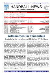 Handball-News Nr. 134 - beim Godesberger Turnverein 1888 eV