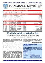 12-09-07 GTV Handball-News Nr 118 - beim Godesberger ...