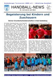 12-06-08 GTV Handball-News Nr 116 - beim Godesberger ...