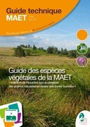 Guide espèces végétales MAET - Parc Naturel Régional de ...