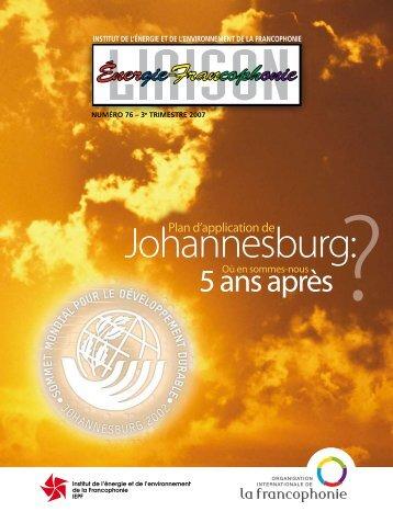 Liaison Énergie-Francophonie - Brodhag, Christian