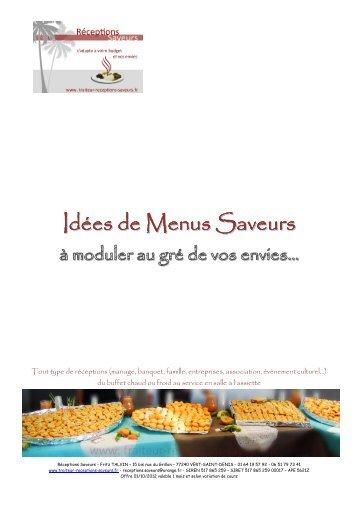 Idées-de-Menus-Saveurs Modif22112012 - Réceptions Saveurs