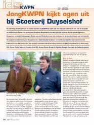 JongKWPN kijkt ogen uit bij Stoeterij Duyselshof