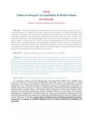 Culture d'entreprise: la contribution de Herbert Simon. - gregor