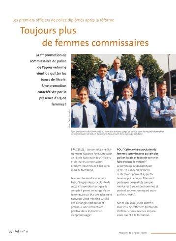 Toujours plus de femmes commissaires