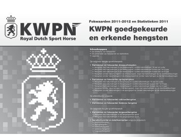 KWPN goedgekeurde en erkende hengsten