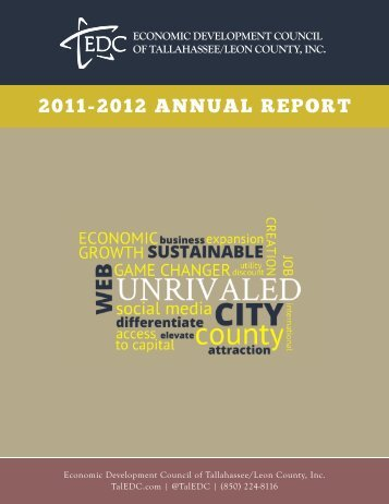 2012 Economic Development Annual Report - Leon County