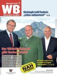 Der Wirtschaftsbund gibt Rechenschaft! - Wels-Land