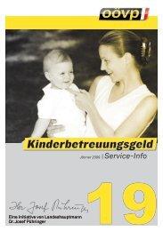 Kinderbetreuungsgeld ( Falter 19) - Wels-Land - ÖVP Oberösterreich