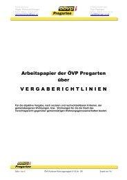 Arbeitspapier der ÖVP Pregarten über VERGABERICHTLINIEN