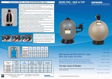 SERIE PRO - SIDE & TOP Notre gamme de filtres Serie Pro : pour ...