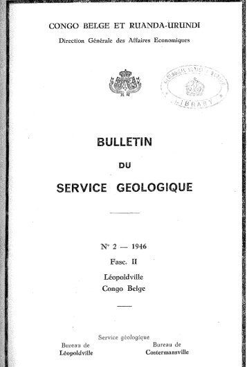 SERVICE GEOlOGIQUE - British Geological Survey