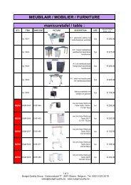 MEUBILAIR / MOBILIER / FURNITURE manicuretafel ... - Proximedia