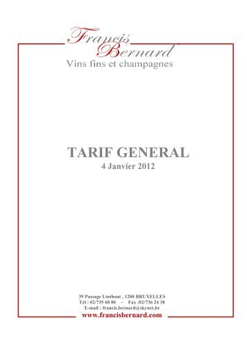 CATALOGUE (hors grands vins) - Proximedia