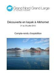 Compte-rendu (21 au 30 juillet 2012) - Le blog de glace - Grand ...