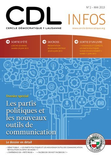 Bulletin no. 2/13 – Mai 2013 - Cercle Démocratique Lausanne